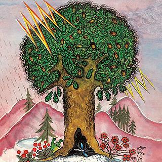 Oak Tree, Lightning, Storm, Yuri Vasnetsov greeting card