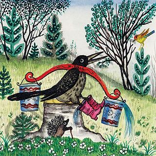 Thrush Bird. Yuri Vasnetsov