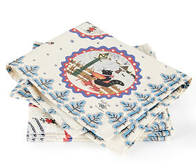 Luxury Christmas napkins, colourful chri