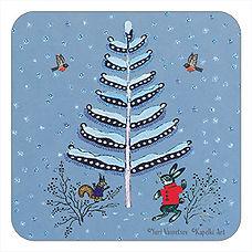 Little Christmas Tree cork coaster