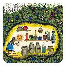 Mouse Pantry cork coaster for kids, Yuri Vasnetsov