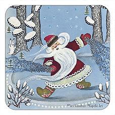 Father Christmas, Santa Claus, Ded Moroz, Christmas coaster, Yuri Vasnetsov