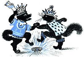Yuri Vasnetsov illustrations Dancing dog