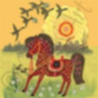 Pretty Horse Card. Yuri Vasnetsov