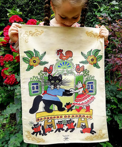 cats tea towel cropped more girl 1080px.
