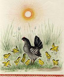 Yuri Vasnetsov illustrations Chickens U
