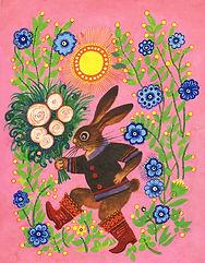 yuri vasnetsov, hare with flowers.jpg
