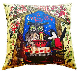 Fairytale animal meal cushion cover uk.