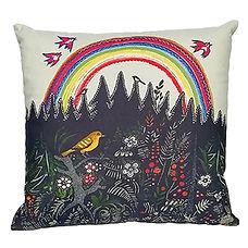 Rainbow folk art cusion UK Yuri Vasnetso