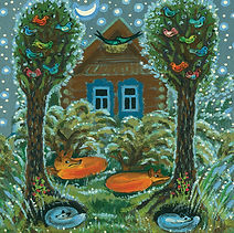 Elizaveta Vasnetsova. Sleeping foxes ill