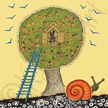 художник Васнецов Юрий, unusual art cards, made in UK