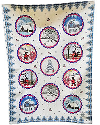 Christmas tea towel, Winter Fairytale, Yuri Vasnetsov gifts