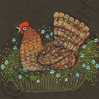 Brown Chicken Greeting Card