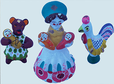Vyatka clay toys collection.