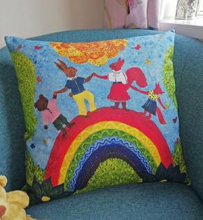 bright colourful home decor, rainbow dec