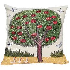 Rowan art cushion, tree art home decor,
