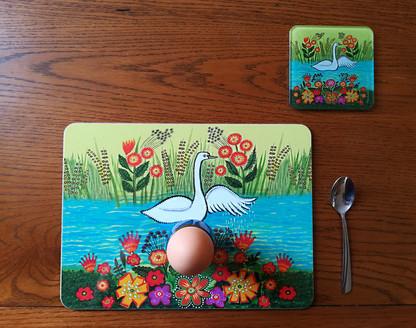 Swan mat+coaster egg breakfast.jpg