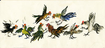 Yuri Vasnetsov illustrations cockrels, r