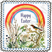 Easter Folk Art Greeting Cards. Yuri Vasnetsov.