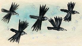Yuri Vasnetsov illustrations Rooks birds