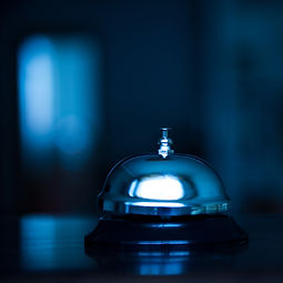 Service bell at an hotel table..jpg