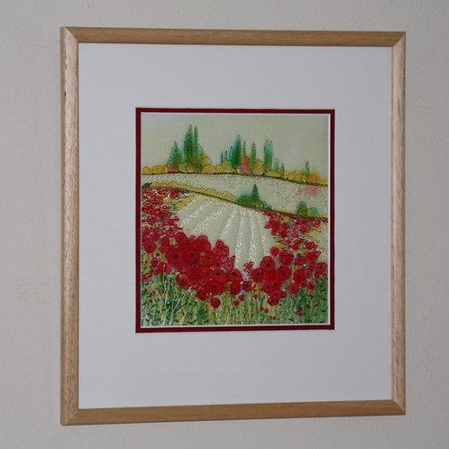 Italian Poppies(Original Embroidery)