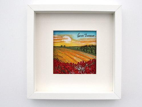 Cornfield Poppies (Original Embroidery)