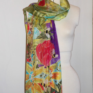 Busy Bees Silk Scarf.