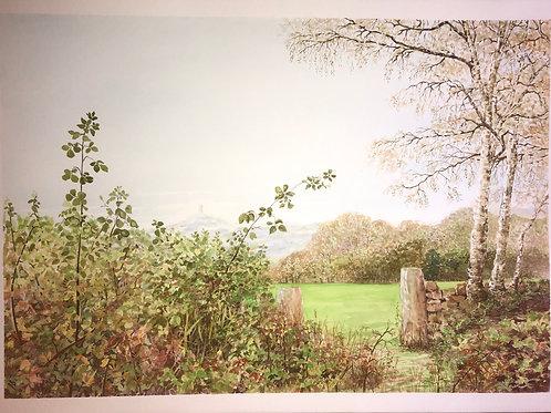 Watercolour - Distant View, Castle Hill
