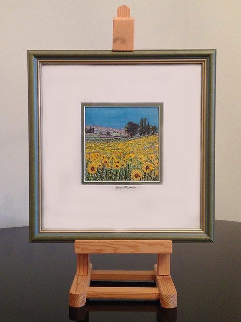 Tuscan Sunflowers (Original Embroidery)