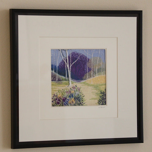 Thistle Forest (Original Embroidery)