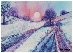 Wolds in the snow