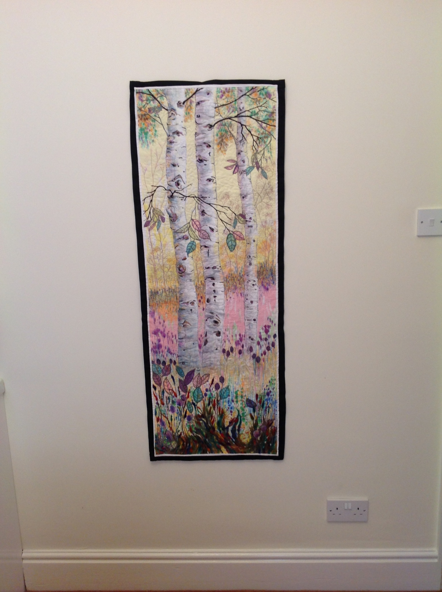 Birches - Large Textile Embroidery.