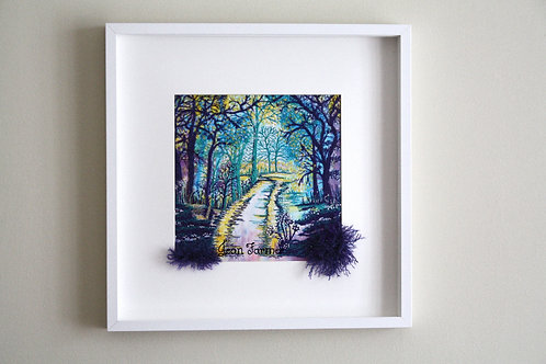 Woodland Walk (Original Embroidery)