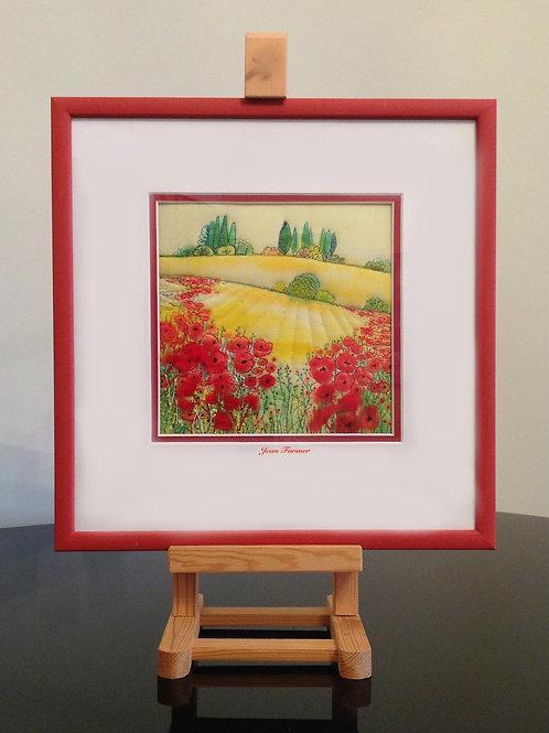 Italian Hay Fields (Original Embroidery)