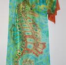 Orange Seahorse. (detail)