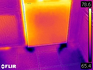 Dishwasher Leak Infrared