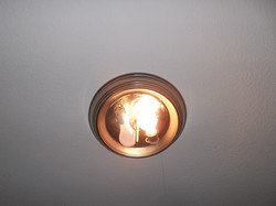 Missing bulb cover.