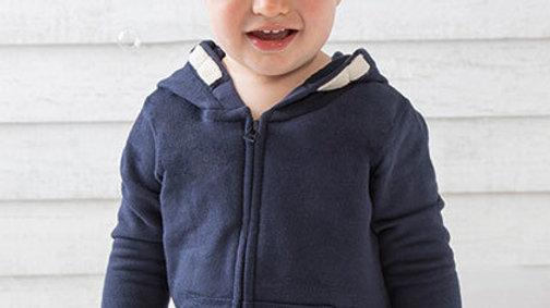 Geborduurde hoodie van 6maand tot 5 jaar