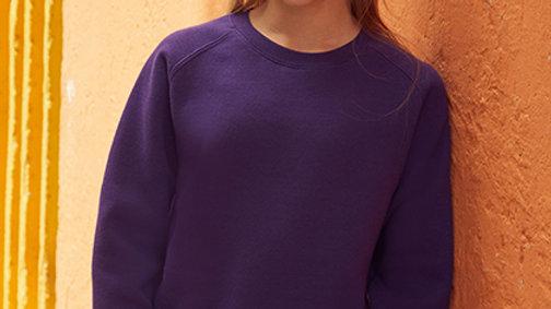 Geborduurde sweater met raglan mouwen