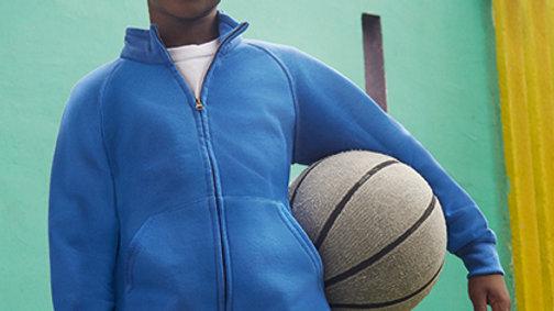 Geborduurde sweater met rits zonder kap - kids