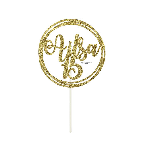 Circles Cake Topper - Metallics