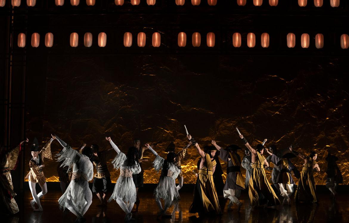 northern ballet dancers in geisha. photo