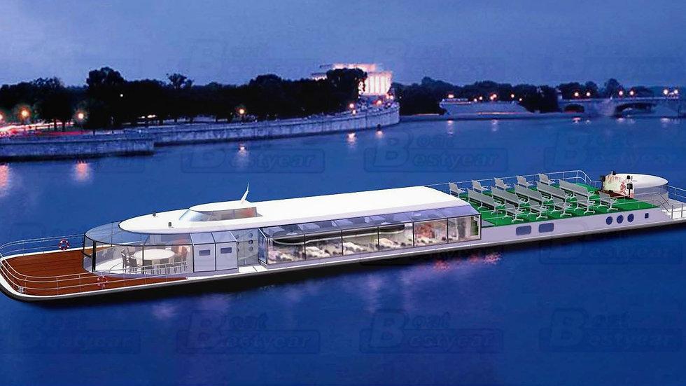 35m Restaurant Boat for 100-200 Passengers