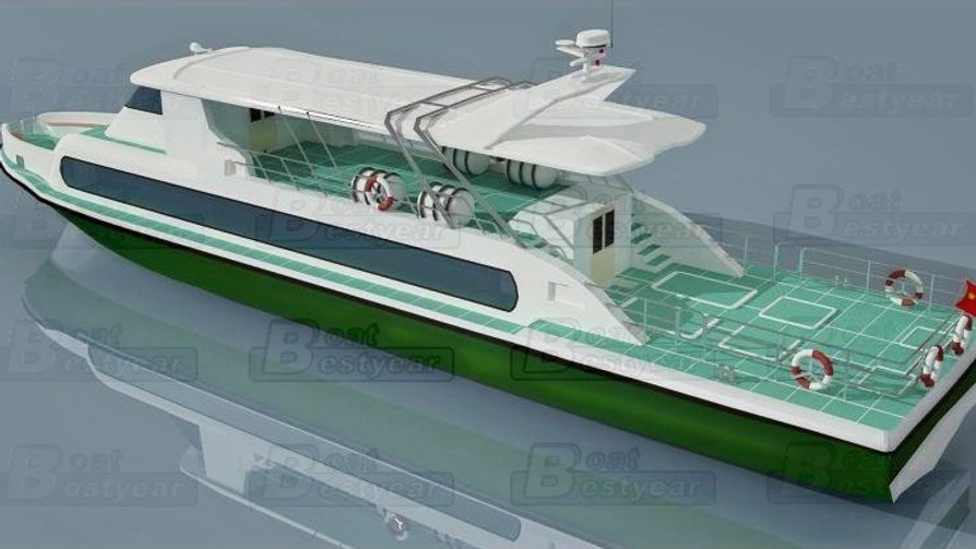 BY2900 Passenger Boat for 160 Passengers