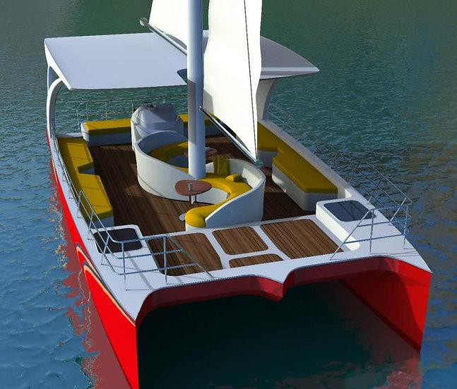 30ft Catamaran Sailboat
