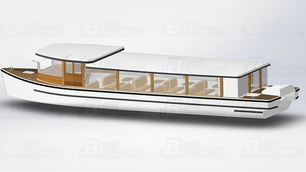 15.8m Electric Boat for 30 Passengers
