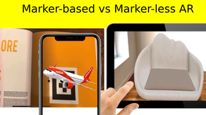 Difference between Marker-based & Markerless Web Augmented Reality (AR)