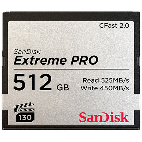 SanDisk Extreme Pro 512 GB CFast2.0
