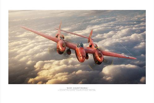 P38 Lightning - Red Lightning